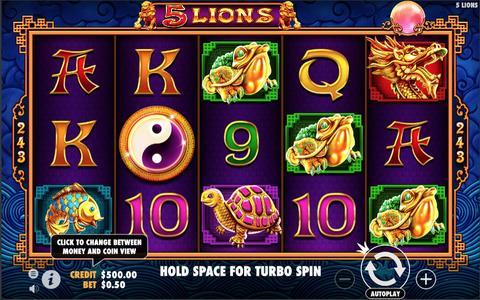 Online Casino «5 Lions Gold Slot»